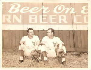 Boots at Sulphur Dell Stadium in Nashville, 1940. Trust me, he's well-placed under a sign advertising beer.