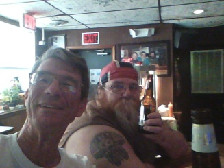Big Bill and I raise a bottle to Boots.