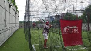 Al takes his swings.
