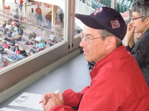 Part of our 2011 pilgrimage to Salisbury included the opportunity to take in the Shorebirds game from the press box.